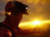 Lever de soleil au Puy de Dôme.